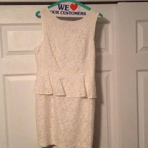 Forever 21 Ivory lace dress size L